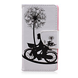 Cycling Couple Pattern PU Leather Full Body Cover with Stand for Sony Xperia Z5 Compact