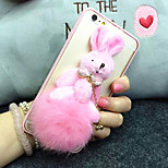 Fashion Hair Bulb Ball Pendant Chain Design TPU Soft Back Case Cover for iPhone 6 Plus/ 6S Plus
