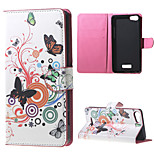 Butterfly Circles Wallet Leather Stand Case for BLU Vivo Selfie
