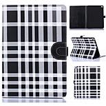 Gittermuster PU-Leder Ganzkörper-Tablet-Schutzhülle mit Kartenbeutel für ipad 2 Luft