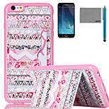LEXY® Box Tribe Pattern Soft TPU Case with Screen Protector and Stylus for iPhone 6/6S Plus