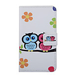Lovely Couple Owl Pattern PU Leather Full Body Cover with Stand for Huawei Nexus 6P