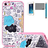 LEXY® Love Champagne Pattern Soft TPU Back Case with Screen Protector and Stylus for iPhone 5/5S