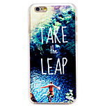 Take the Leap Pattern Transparent PC Back Cover for iPhone 6