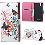 Butterfly Circles Wallet Leather Stand Case for Acer Liquid Z630 Z630S (5.5inch)