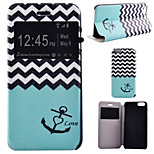 Love Sea Anchor Pattern PU Leather Full Body Cover with Stand for iPhone 6 Plus/iPhone 6S Plus