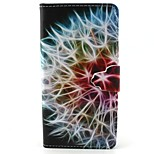 Finger Buckle Dandelion Painted PU Phone Case for Huawei P8 Lite