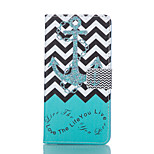 Chevron Stripes & Anchor Pattern PU Leather Stand Case with Card Slot for Sony Xperia Z3 / Z3 Compact D5803 M55w