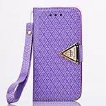 High Quality Diamond Check Wallet Pattern PU Leather Cover for iPhone 6S/6 Plus (Assorted Colors)