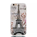 Eiffel Tower Pattern Water Cube TPU Soft Case for iPhone 6/6S
