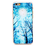 Winter Night Sky Pattern Transparent PC Back Cover for iPhone 6