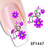 1 PCS 3D Water Transfer Printing Nail Stickers XF1447