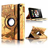 MAP Pattern 360 Degrees Rotating PU Leather Stand Case Cover for Kindle Fire HD 6