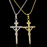 18K Real Gold Plated Cross Jesus Pendant 2.3*5.5CM