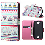 Triangles Pattern Wallet Leather Stand Case for Acer Liquid Z320 Z330