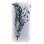 Green Feather TPU Pattern Back Cover Mobile Phone Protection Shell for iPhone 6/6s