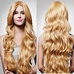 European And American Fashion Wavy Hair Synthetic Wigs Blonde Color Hot Selling