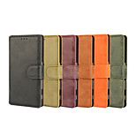 Retro PU Leather Full Body Cover with Stand and Card Slot for Sony Xperia Z5 Compact (Assorted Color)