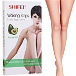 20Pcs Hair Removal Depilatory Wax Strips Papers For Legs Armpit Bikini Clean Painless Depilatory For Men Women