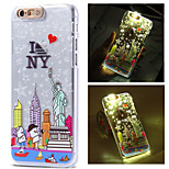 New York City Pattern LCD Sense Flash Light Back Cover Case for iPhone 6/6S