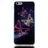 Butterfly Pattern Blu-ray TPU Soft Back Cover Case for  iPhone 6/6S