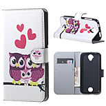 Owls and Hearts Wallet Leather Stand Case for Acer Liquid Z320 Z330