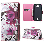 Purple Flowers Wallet Leather Stand Case cover for Acer Liquid Z530