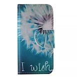 White Dandelion Painted PU Phone Case for iphone5C