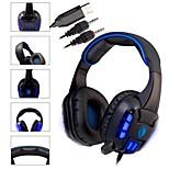 SADES High Sensitivity Mic Sound Stereo Blue LED Gaming Headphone Noise-cancelling Headset