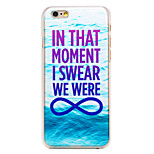 Swear Phrase Pattern Transparent PC Back Cover for iPhone 6