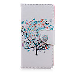 Butterfly Tree Pattern PU Leather Full Body Cover with Stand for Sony Z5