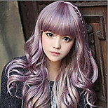 Girls' Lovely Cosplay Beautiful Red Sythetic Wave Wigs Hair Extensions Bang Of Daily Style