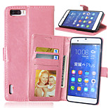 Crazy Horse Flip PU Leather Stand Phone Case Cover with Card Slots for Huawei Honor 6 Plus 6X (Assorted Colors)