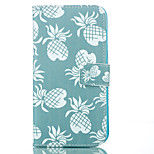 Pineapple Pattern PU Soft Case for iPhone 5G/5S