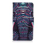 patrón de marfil de la PU cuero de la cubierta de cuerpo completo con soporte para Sony Xperia z5 compacta