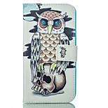 caja suave del modelo del búho de la PU para el iphone 5g / 5s