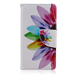 Flower Color Pattern PU Leather Full Body Cover with Stand for Sony Xperia Z5 Compact