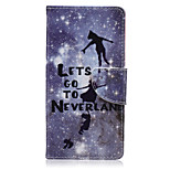 Let's Go To Never land Color Pattern PU Leather Full Body Cover with Stand for Sony Z5