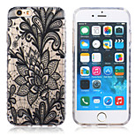 New Violence Black Lotus Pattern TPU Material Phone Case for iPhone 6 / 6S