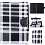 Grid Pattern PU Leather Full Body Tablet Protective Shell with Card Bag for iPad Mini 3/2/1