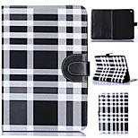 padrão de grade de couro pu corpo inteiro tablet escudo protetor com saco de cartão para iPad mini 3/2/1