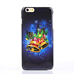 Blue Christmas Bells Pattern Glossy Surface PC Hard Phone Case for iPhone 6S/6