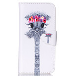Lovely Giraffe Pattern PU Leather Full Body Cover with Stand for iPhone 5/iPhone 5S