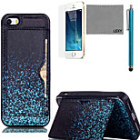 LEXY® Blue Firefly Pattern Soft TPU Back Case with Screen Protector and Stylus for iPhone 5/5S