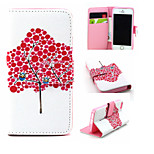 Tree Pattern PU Leather phone Case For iPhone 5/5S