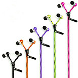 3.5mm Creative Zipper Headphones  for IPhone 6s IPhone 6 Plus iPhone 5s/5 and Other Mobile (Assorted Colors)
