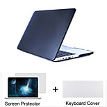 3 in 1  Leatherette top Surface Hard Shell Cover Case+Keyboard Cover+Screen protector for  Macbook  Air 11