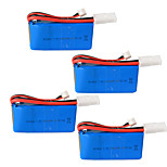 rc 1500 mah batería 7,4 v control remoto de helicóptero de la batería el 2 s 7,4 v de litio - 2 p enchufe 4 piezas