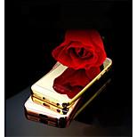 neue Luxus hochwertigem Aluminium Metallrahmen Fall + ultra dünne Acrylspiegel rückseitige Abdeckung für iphone 5 / 5s