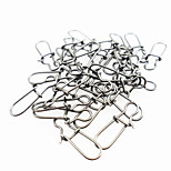 Fishing Snaps & Swivels Fishing - 50 pcs Metal - Anmuka General Fishing